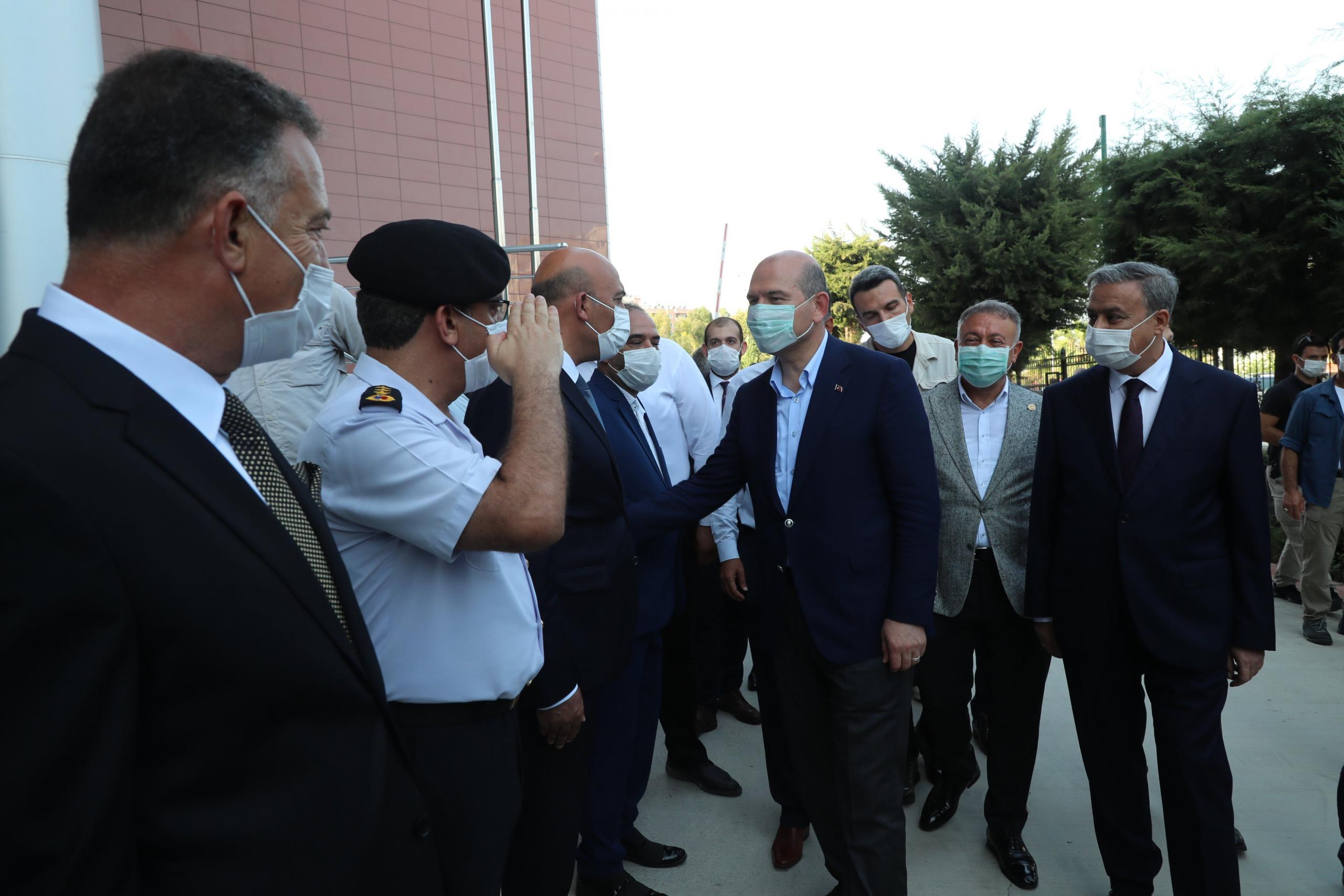 Mersin'de İçişleri Bakanı Soylu'nun başkanlık ettiği güvenlik toplantısı tamamlandı