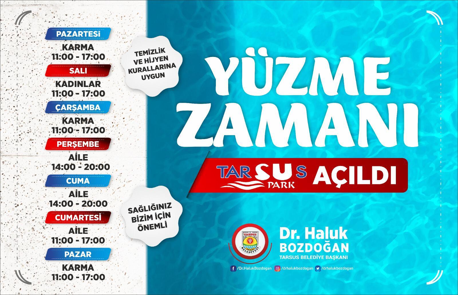 'TARSUS SU PARK' SEZONA MERHABA DEDİ