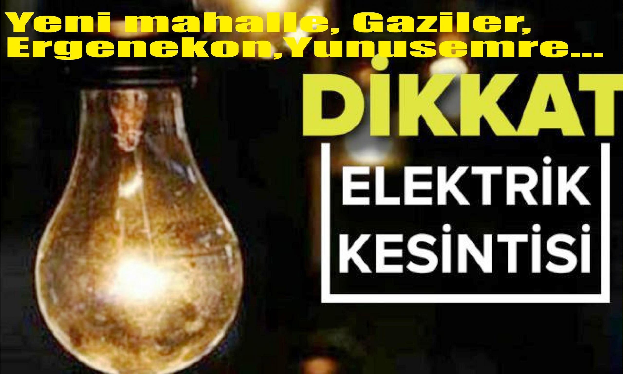 Tarsus'un Bazı Mahallelerinde Elektrik Kesintisi Yapılacaktır