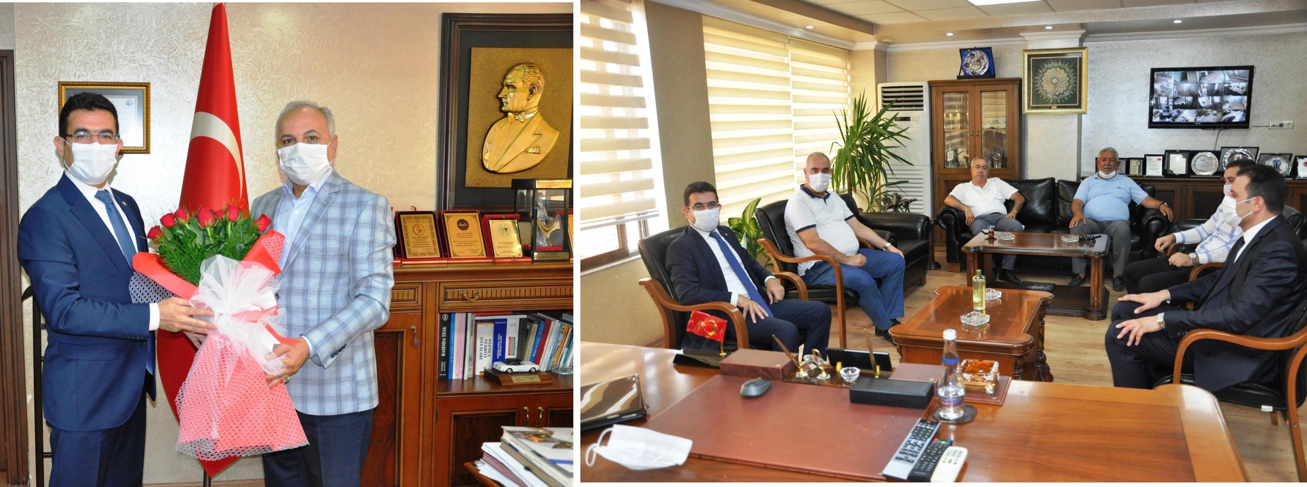 Vergi Dairesi Başkanı Güngör'den Başkanı Dinçer'e veda ziyareti