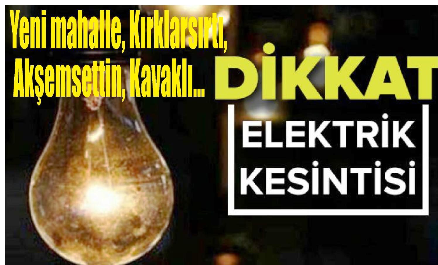 Cuma Günü Tarsus'un Bazı mahallelerinde Elektrik Kesintisi Uygulanacaktır