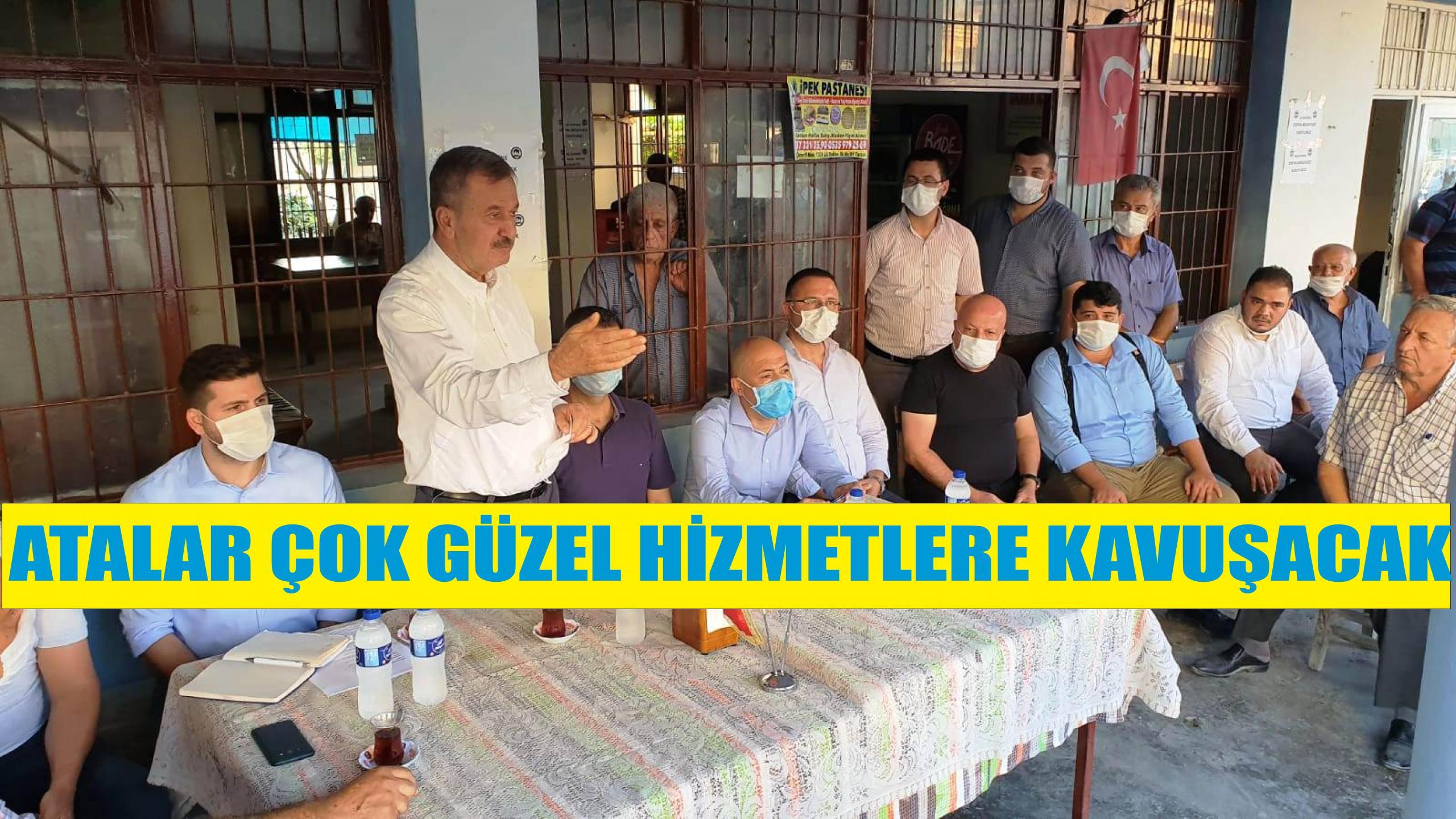 CHP'Lİ YÖNETİCİLERDEN ATALAR MAHALLESİ'NE ZİYARET