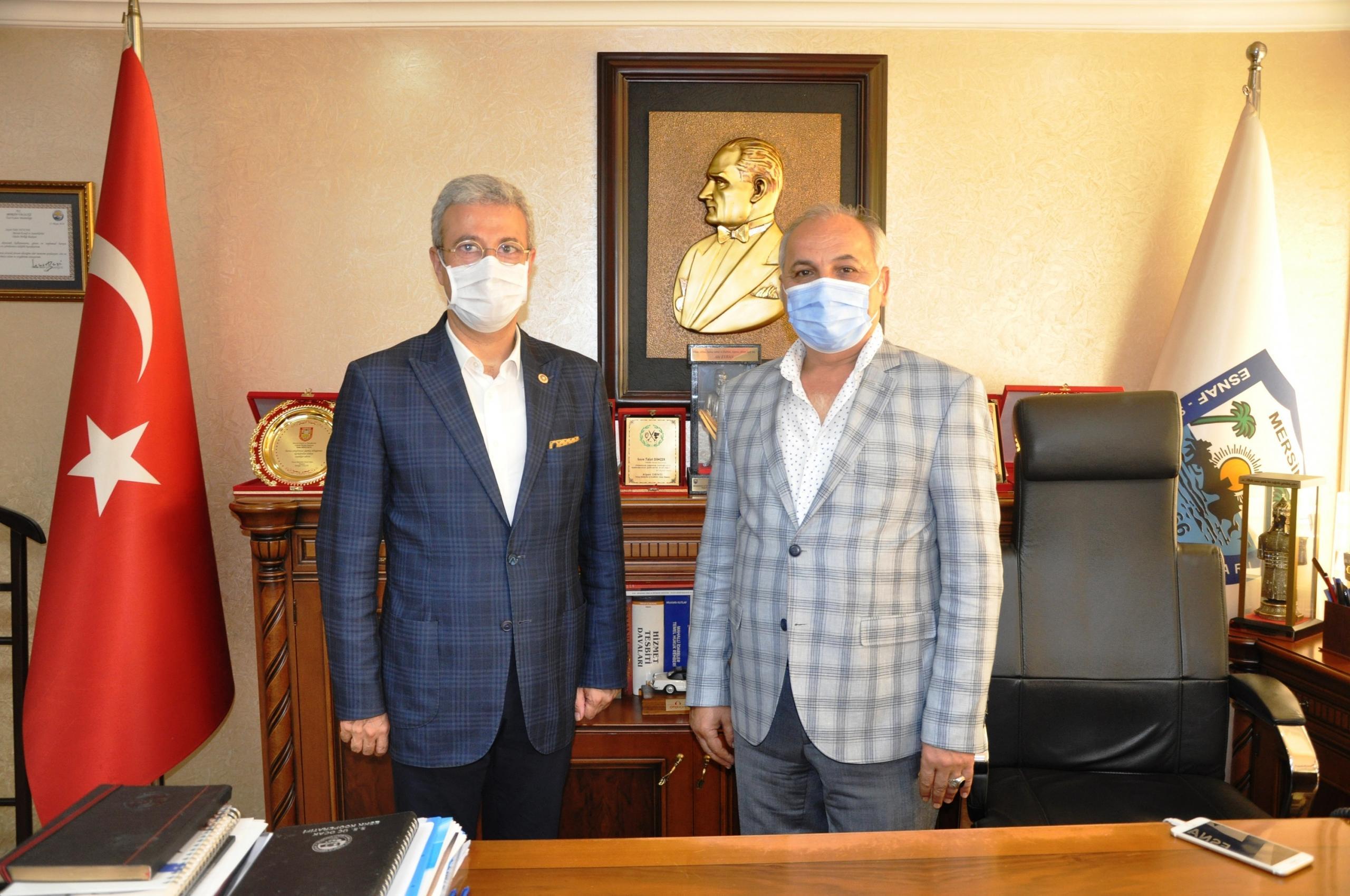 CHP Mersin Milletvekili Antmen'den Başkan Dinçer'e ziyaret