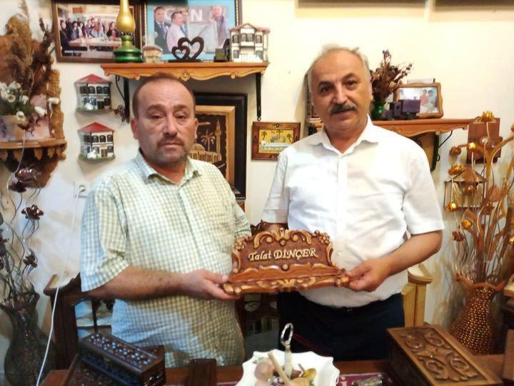 Başkan Dinçer'den Ahşap Oyma Ürünleri Ustası Demirtaş'a ziyaret