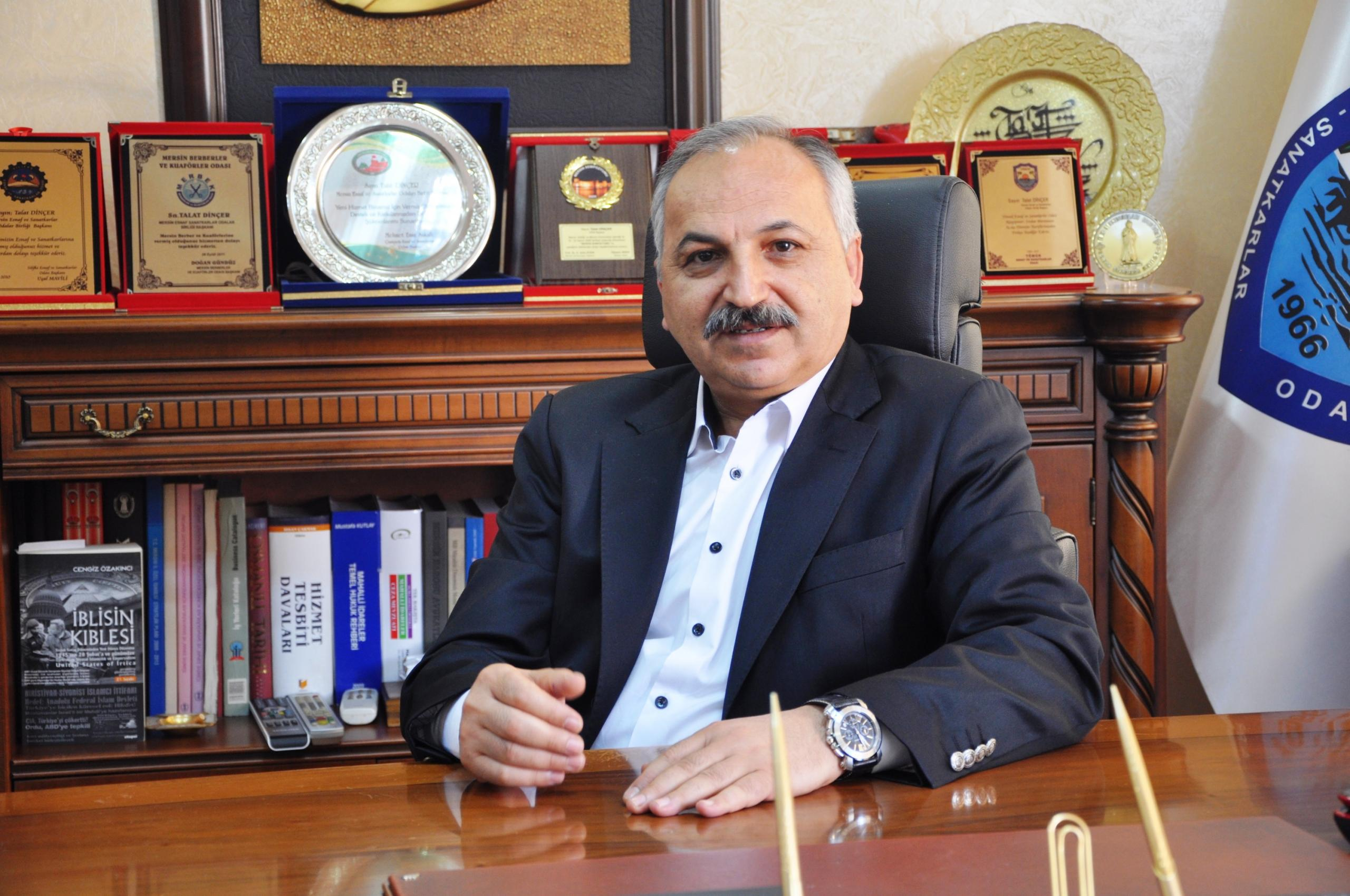 """Başkan Dinçer, """"Mersin'e acilen sanayi yerleşkesi kurulmalı"""""""