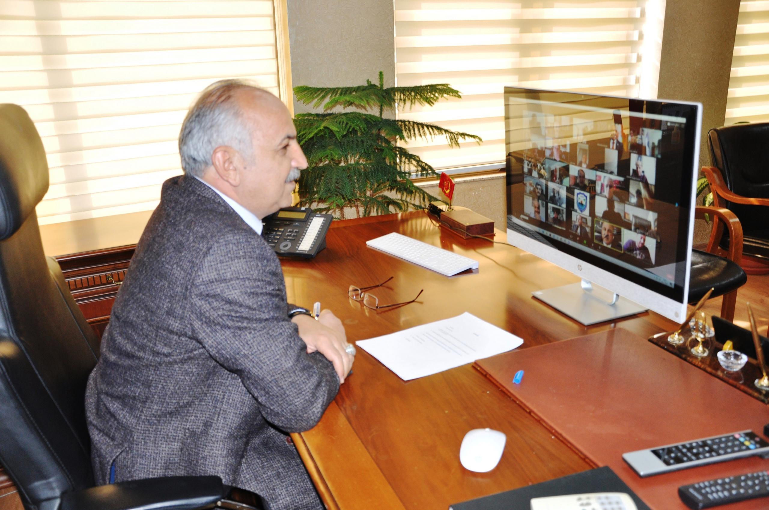 Mersin'de Oda Başkanları on-line sistem üzerinden toplandı