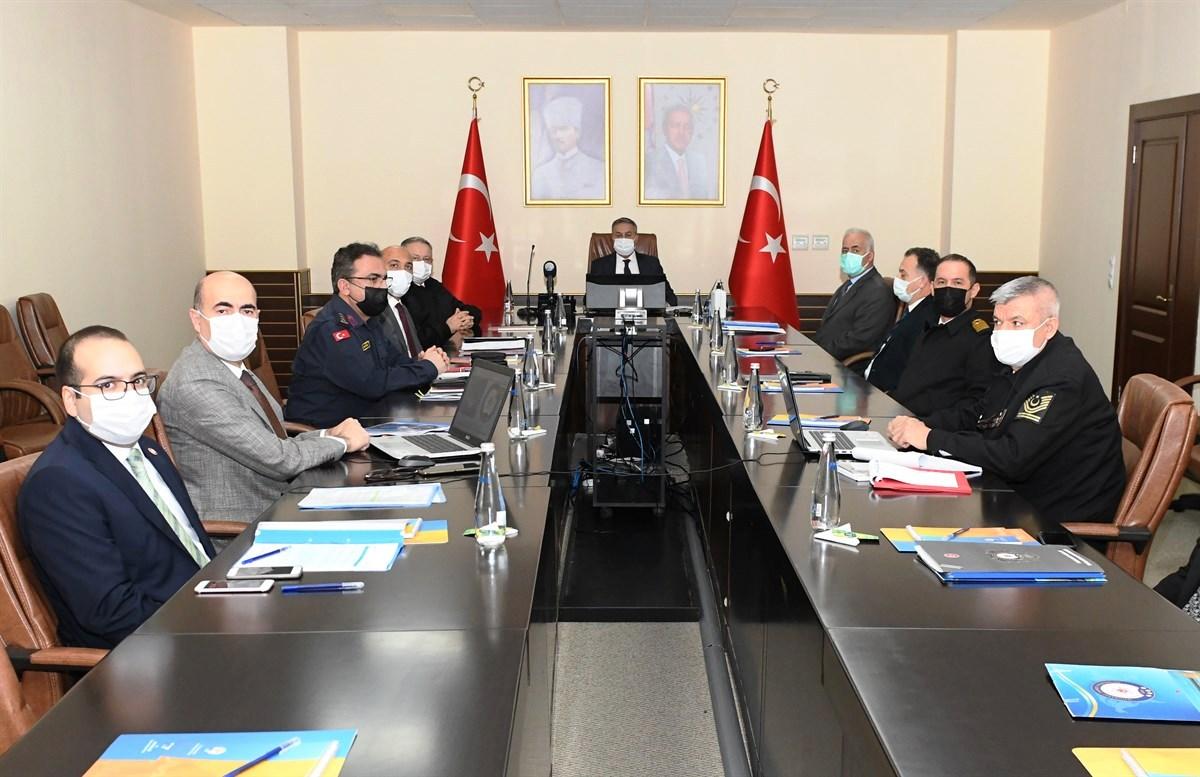 'İl Güvenlik ve Asayiş Koordinasyon Toplantısı' Vali Su Başkanlığında Gerçekleştirildi
