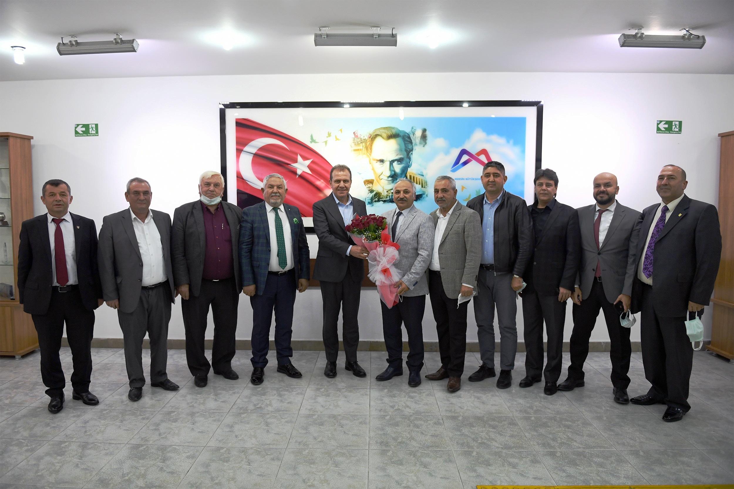 ESNAF TEMSİLCİLERİNDEN SEÇER'E TEŞEKKÜR ZİYARETİ
