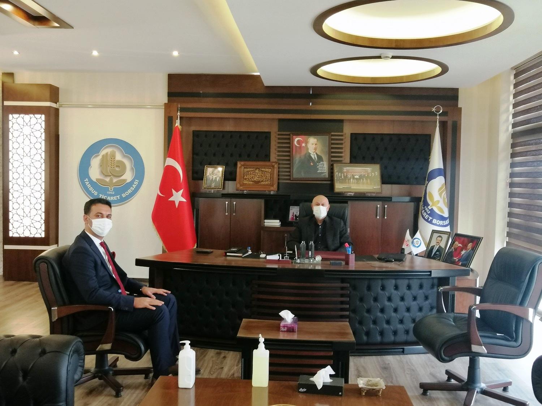 SGK Müdürü Süleyman Metin, TTB Başkan Kaya'yı ziyaret etti