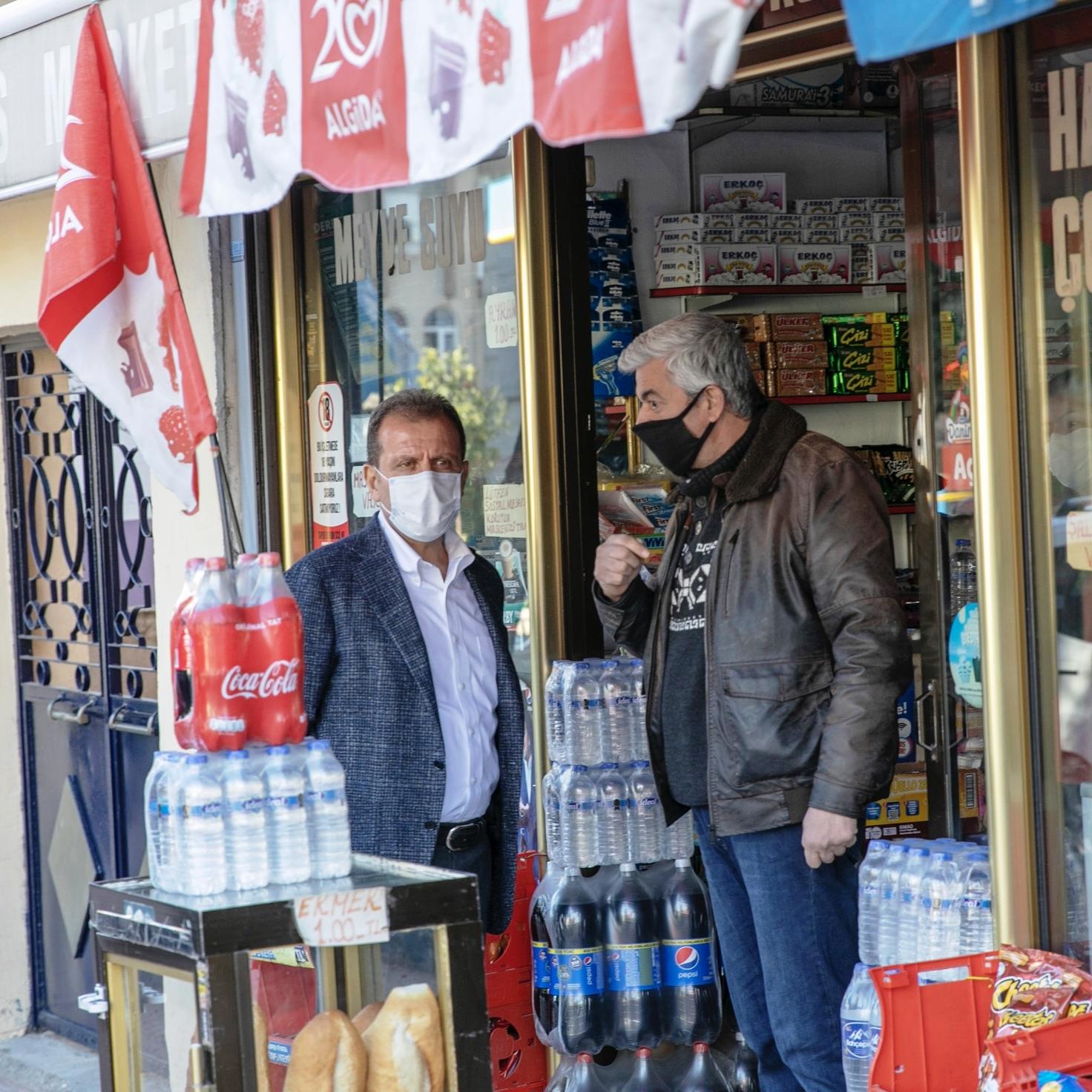 BAŞKAN SEÇER, ESNAFA BEREKETLİ KAZANÇLAR DİLEDİ