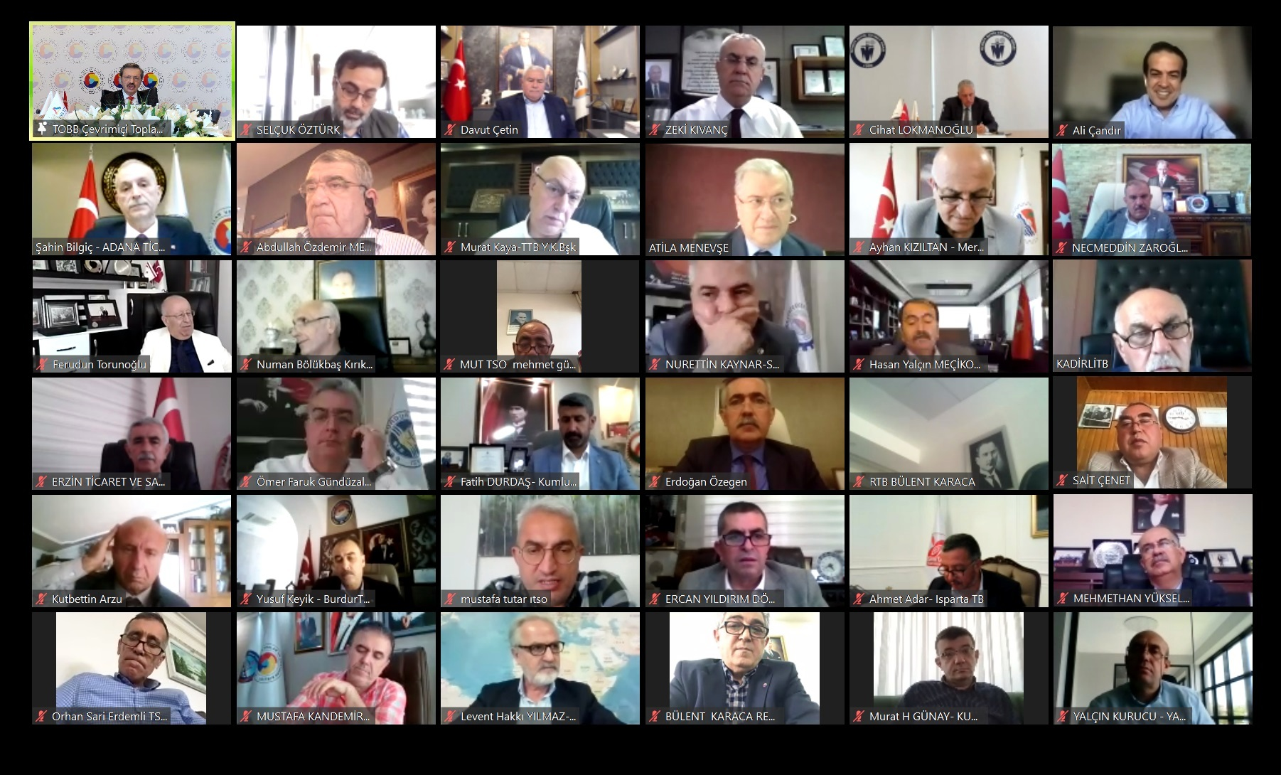 Akdeniz Bölge Toplantısı Çevrimiçi Yapıldı