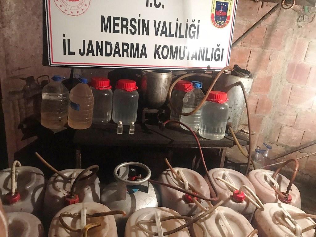 Mersin'de 336 Litre Sahte İçki Ele Geçirildi